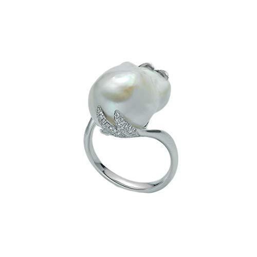 Nimei Anello Donna con Perla e Diamanti Oro Bianco PLI1500
