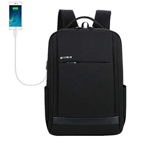 Business Laptop Rucksack für Männer/Frauen Huntdream Anti-Diebstahl-Tear/Water Resistant Reisetasche Schule/Hochschule Rucksack USB Lade Rucksack grau