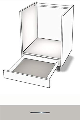 Premium-Ambiente BQEEPB0064 Unterschrank Herdumbau Schublade TANDEMBOX Softclosing 60cm breit EURODEKOR® (64 Perlgrau)