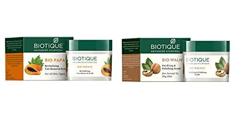 Biotique Bio Gommage revitalisant à la papaye Retire le bronzage Pour tous les types de peaux 75 g