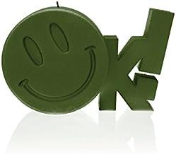 شموع كانديلانا 5902815461982 عملاقة على شكل علامة الشموع ، أخضر غامق