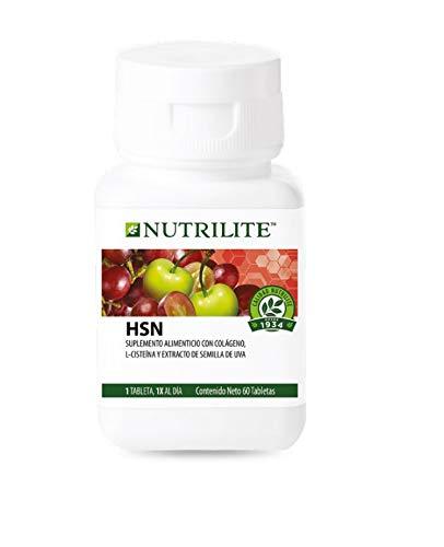 HSN Nutrilite, Colágeno, L-Cisteina, y Extracto de Semilla de Uva 60 Tabletas