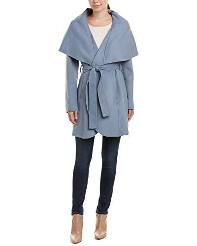 Price comparison product image T Tahari Womens Marla Winter Wool Blend Wrap Coat Blue XS
