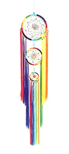 OMA Triple Chakra Dream Catcher Multi Color Boho Hippie...