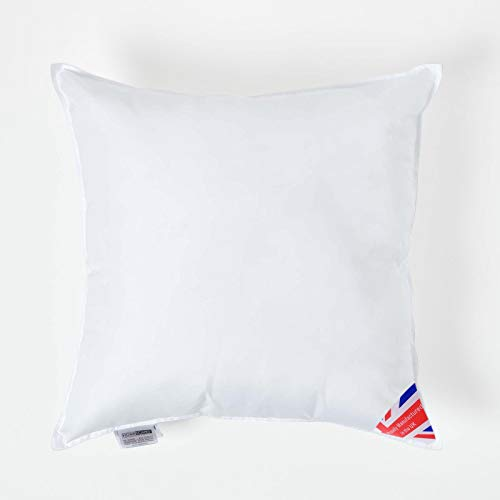 """Homescapes Super Microfibre Cushion Pad 50 x 50 cm (20"""" x 20"""") Inner Insert Hypoallergenic Synthetic Cushion Filler Machine Washable"""