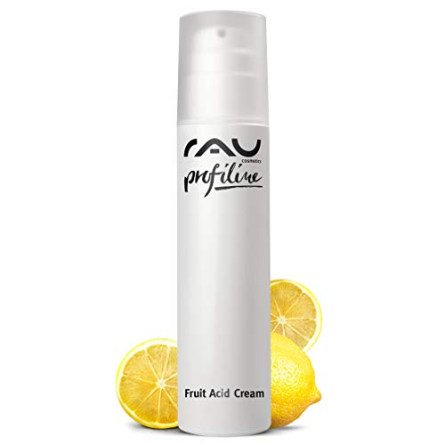RAU Fruit Acid Cream Profiline (6.76 Fl.oz) - Best Moisturizer With Fruit Acids (AHA, BHA), Hyaluronic Acid, Vitamins & Oils - Ideal for mature, impure, pigmented, pale or keratinized skin