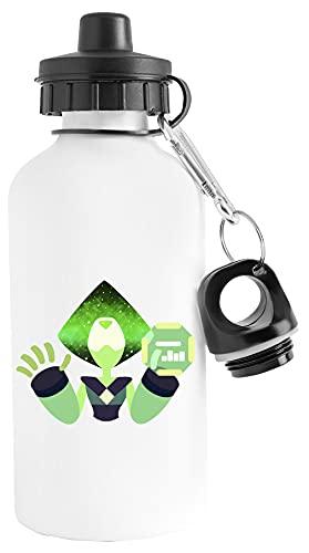 Peridoto - Nebulosa Ligero Botella de Agua Blanco Aluminio Reutilizable Lightweight Water Bottle White Aluminium Reusable
