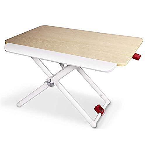 Cylficl Laptop Klapptisch - Hydraulische Hebeklappbaren tragbaren Stehen Mobil Schreibtisch Laptop-Computer Erhöhte Bracket Tabelle