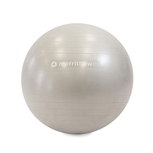 STOTT Pilates - Pelota de Estabilidad, 66 cm, con Bomba (Plateada)