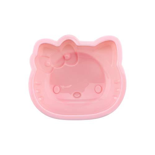 CHEFMADE Hello Kitty Kuchenform, 10,2 cm, antihaftbeschichtet, aus Silikon, für Ofen und sofortiges Backen, Pink