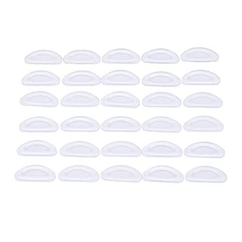QWXX Derecha de Arrastre 5 Pares de Almohadillas de Nariz Adhesiva Antideslizante Silicona Silicona Almohadillas for Gafas Cómodo y Antideslizante (Color : Clear)