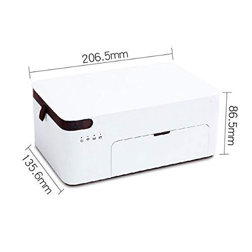 Idebirs mobiele telefoon fotoprinter thuis kleine draagbare mini-wifi draadloze sublimatie Wash-fotoprinter kleur kleine printer thuis, wit