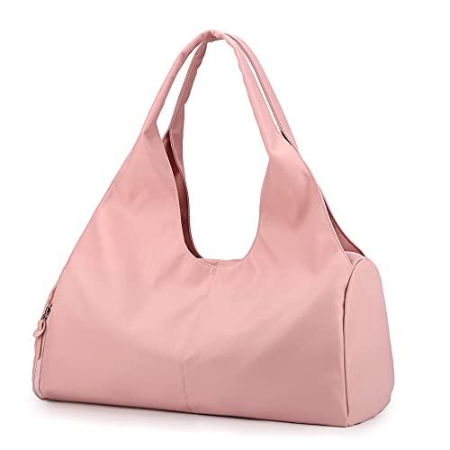 Sporttasche Reisetasche mit Schuhfach & Nassfach Wasserdicht Fitnesstasche Trainingstasche Weekender Damen Multifunktionale Handgepäck Tasche für Männer und Frauen(Rosa)