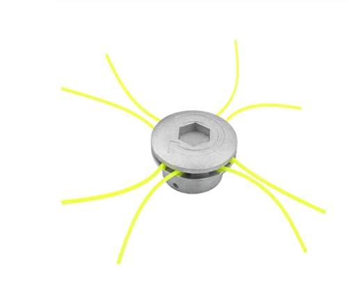 Wishwin Taglierina Universale in Alluminio, Teste per decespugliatori Set di Corde Decespugliatore per elettroutensili Accessori per Giardino