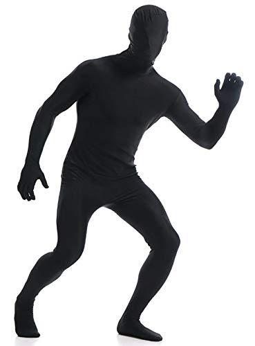 VSVO Kids Black Zentai Full Body Costume Bodysuit (Children Small, Black)