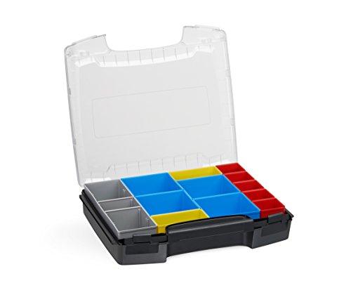 Werkzeug Organizer Box | i-BOXX (schwarz) mit Insetbox C3 | Ideal für i-BOXX RACK & LS-BOXX | Idealer Sortierkasten Kunststoff stapelbar