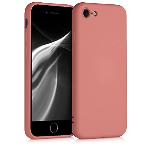 kwmobile Cover Compatibile con Apple iPhone 7/8 / SE (2020) - Custodia in Silicone Effetto Gommato - Cover Back Case Protezione Cellulare - Terra di Siena