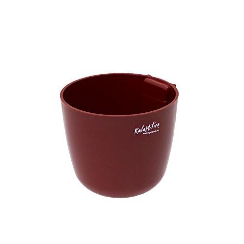 KalaMitica 65110-809-001 Cache-pot Magnétique, Résine Abs, Couleur Taupe, Diamètre 10 cm