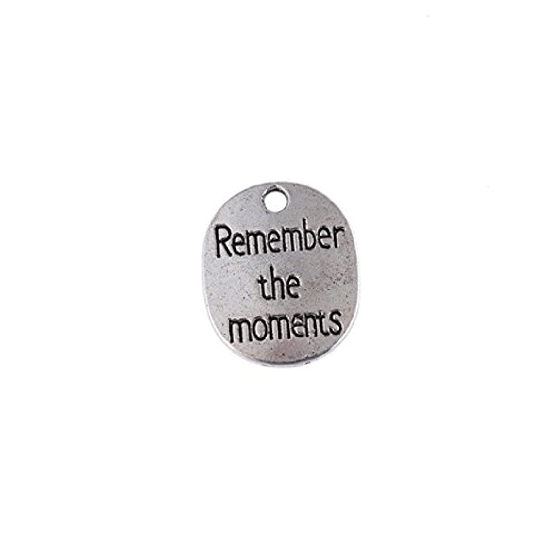 Remember The Moments Charm lot Set of 20 for Jewelry Making Inspirational Quote Charm
