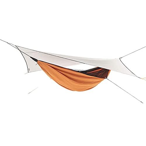 Hamaca de Camping con toldo de Lluvia y cinturón de árbol de Tienda de Mosquitos y Mosquitos,Soltero portátil B3 Fino poliéster Impermeable Conjunto de Hamaca