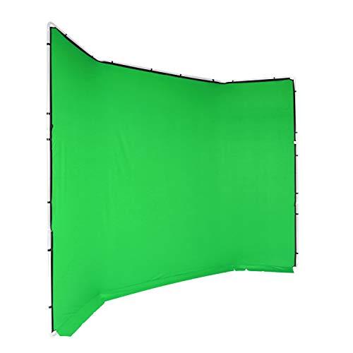 Manfrotto MLBG4301CG Chroma Key FX - Funda para Fondo (4 x 2,9 m), Color Verde