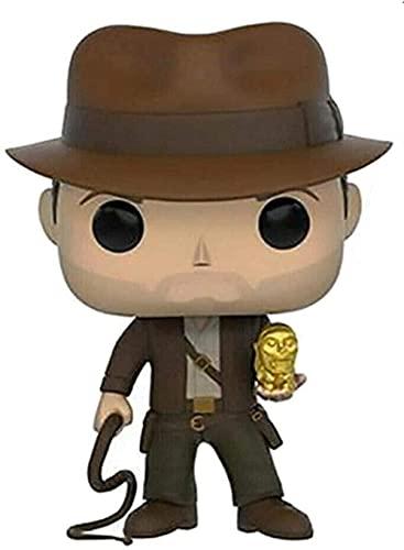 Ljucd Indiana Jones: Dr. Henry Indiana Jones JR Pop con un Sombrero / sosteniendo una Figura de la Figura de la Figura de una Visera PVC - 3 93 Pulgadas Modelo Modelo de Juguetes Modelo