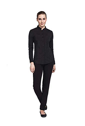 Noel Asmar Uniforms Mandarin Collar Shirt Tunic, Mesh Side Panels,...