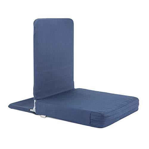 MANDIR Bodenstuhl, klappbar mit gepolsterter Rückenlehne, Meditationsstuhl mit...