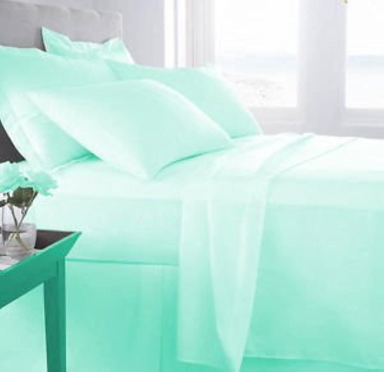 Laxlinens 250fils en coton égypcravaten 4pièces pour lit (+ 53,3cm) très profond Euro grand Poche Simple, massif bleu aqua