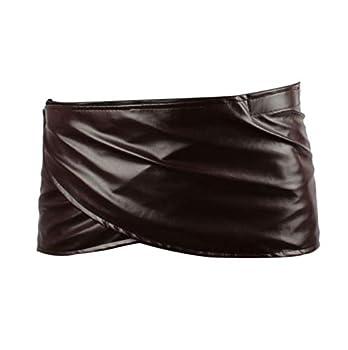 FangjunxianST Attack Titan Leather Skirt Short Brown Hookshot Belt Apron  Small
