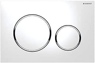 Geberit Sigma-20 Plaque de déclenchement en plastique ,  blanc (chrome brillant)