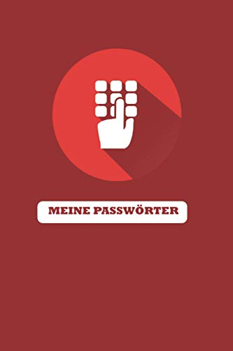 Meine Passwörter | Passwort Buch mit Register von A bis Z | A5 | 66 Seiten: Organizer für deine Passwörter | schön gestaltetes Logbuch inkl. 10 Seiten Notizbuch | zum selber schreiben