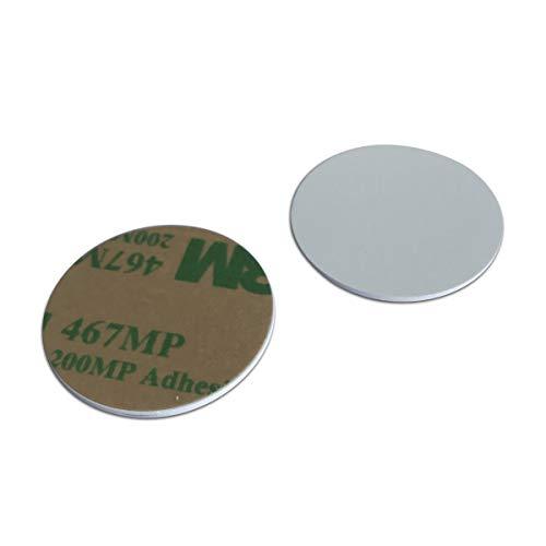 YARONGTECH MIFARE Classic® 1K PVC 3M Selbstklebende Rückseite, rund, 25 mm RFID Medaille Tag 0,9 mm dick (10 Stück)
