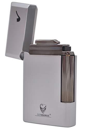 GERMANUS Pfeifenfeuerzeug, Vollmetall, Silber