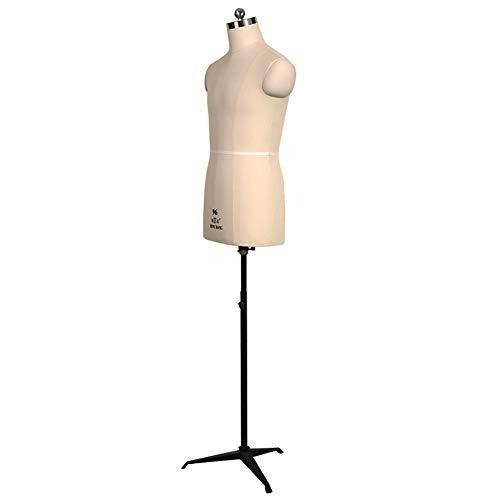 SSZY Masculino Maniqui Costura Modista Busto Forma de Vestido de Maniquí Masculino de Costura con Trípode de Hierro, Torso de Cuerpo de Maniquí Masculino Ajustable en Altura, para Diseño de Trajes