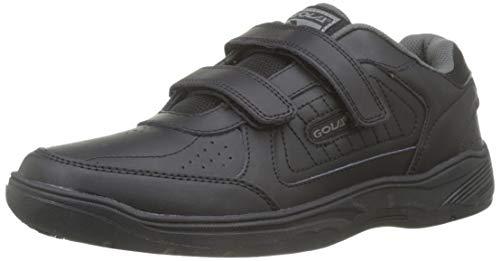 Gola Ama202 Belmont Hombre Velcro Negro Zapatillas De Deporte Del Velcro De Cuero RealEU...