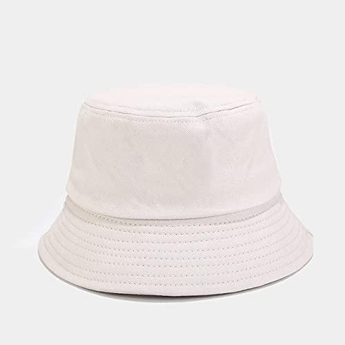 Sombrero de Cubo Plegable de Verano Unisex para Mujer, Gorra de Pesca de algodón con protección Solar al Aire Libre, Sombreros de Sol para Hombre-Beige-Adult 56-59cm