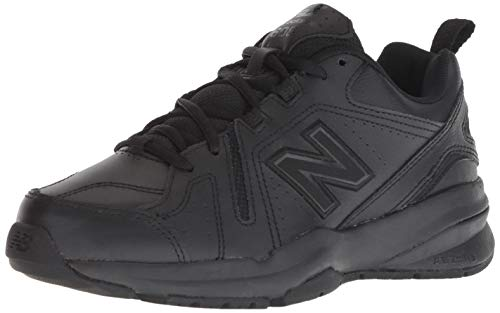 New Balance Women's 608 V5 Casual Comfort Cross Trainer, Black/Black, 7.5 W US
