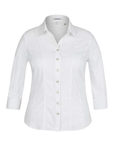 STEILMANN by Adler Mode Damen Business-Bluse mit 3/4 Ärmeln weiß 48