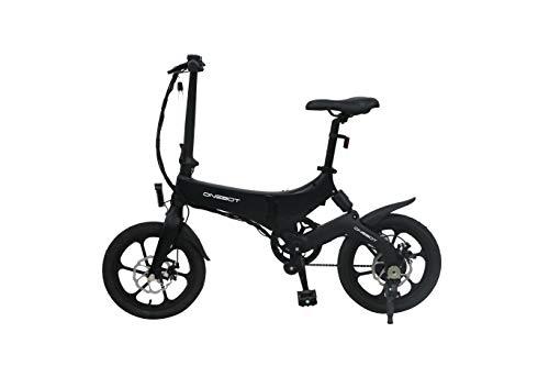 Dalkey123 Vélo Électrique Pliant, Mini Petit Vélo de Scooter avec 3 Vitesses Réglables, Vélo Électrique Adulte Kilométrage Maximum 50 Km, Vélo Électrique Ultraléger avec Siège Réglable (Noir)