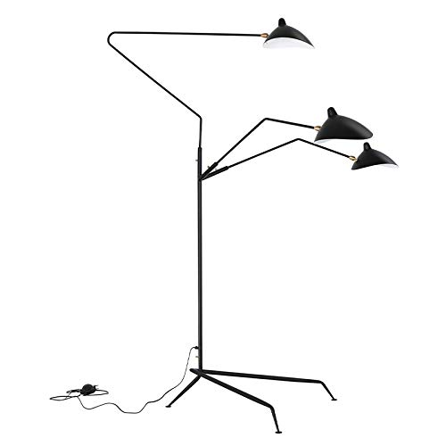 Nordic araña Serge Mouille Lámpara de Modelado dormitorio Industrial de pie simple...
