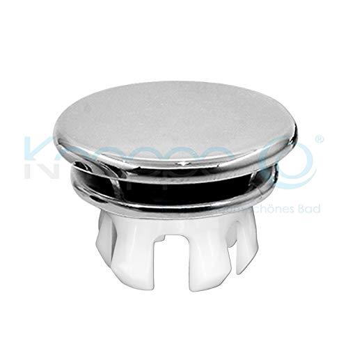 KNOPPO® Waschbecken Überlauf Abdeckung, Überlaufblende - Mirror (6 verschiedene Design-Modelle) chrom