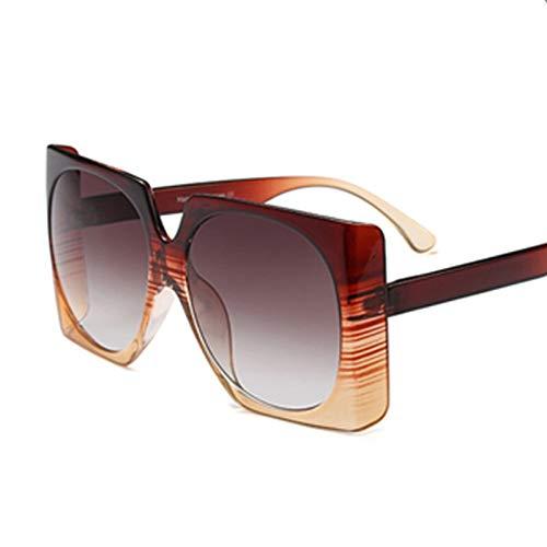 YIERJIU Gafas de Sol Gafas de Sol cuadradas de Gran tamaño Hombres Mujeres Gafas de Sol Famosas Superestrella Masculina Diseñador de Marca Sombras Femeninas Uv400,C3