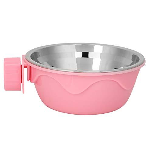 Comedero colgante para perros y gatos, cuencos metálicos para perros, para perros y gatos(Pink)