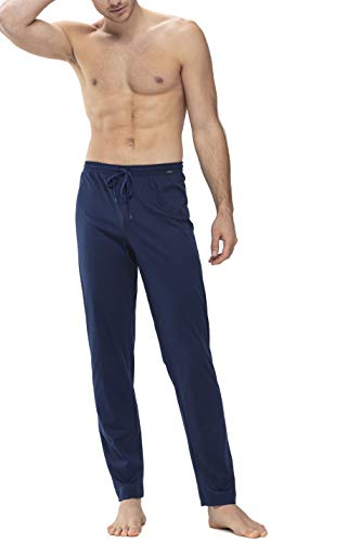 Mey Night Basic Lounge Herren Homewear Hosen Blau 52