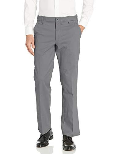 IZOD Men's Advantage Performance Flat Front Classic Fit Chino Pant, Legacy Smoked Pearl, 38W X 30L