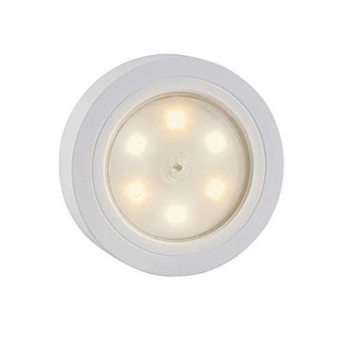 Super Bright Tap Lights Touch Stick on Lights Closet Light Push Puck Night Light Battery Operated for Closet Cabinet Bedroom Storage Shed Hallway Stair Shelf Car(White)