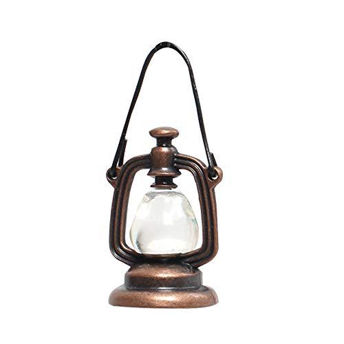 witgift Miniatur Vintage Öllampe,Mini öllampen Puppenhaus Garten Möbel Zubehör