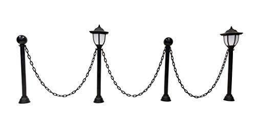 ABC Home Garden Gartendeko Gartenlaternen mit Kette Solarleuchte Lichtsensor EIN-& Ausschalter, Schwarz