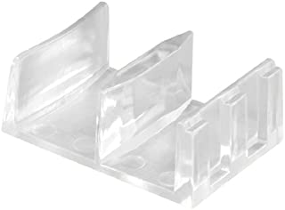 Prime-Line Products 192971 Shower Door Bottom Guide Assembly,(Pack of 2),Clear